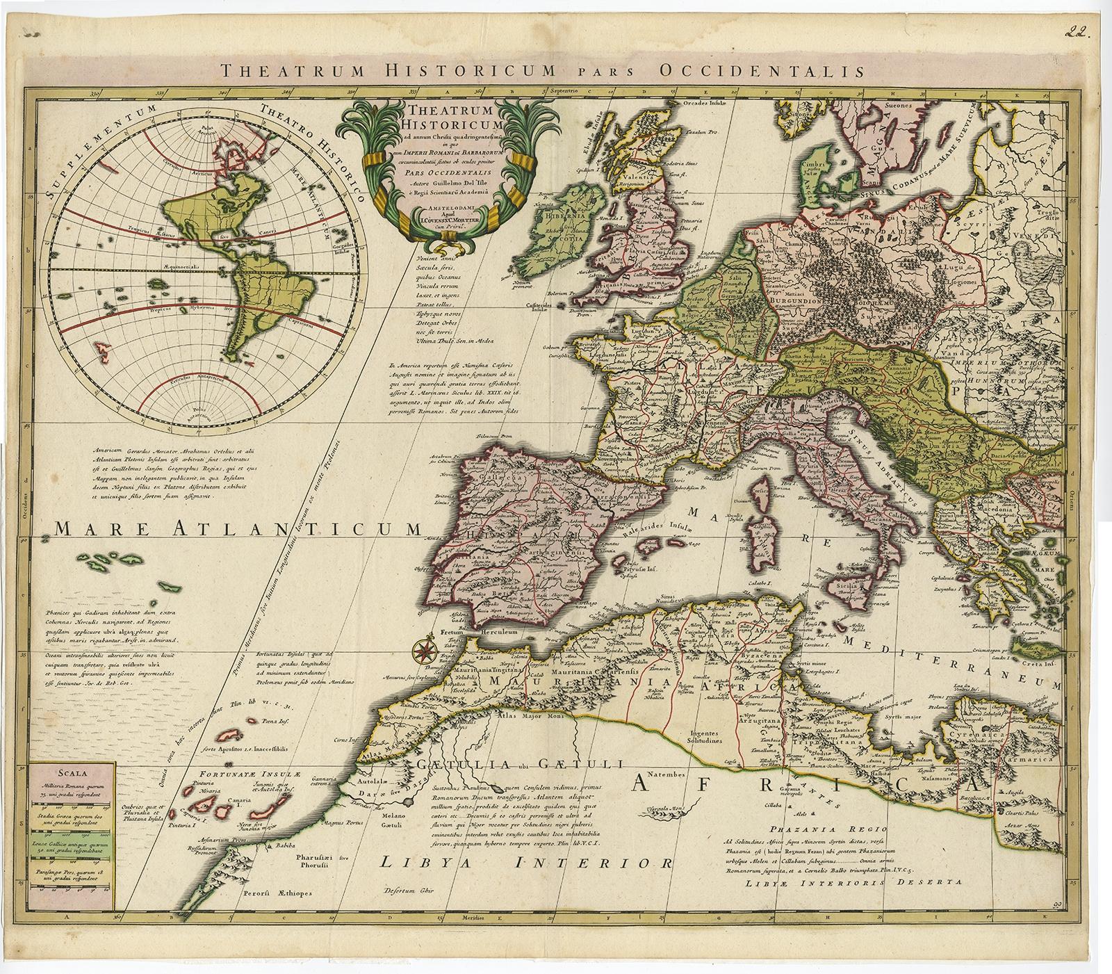 Theatrum Historicum Pars Occidentalis De LIsle C - Pars map