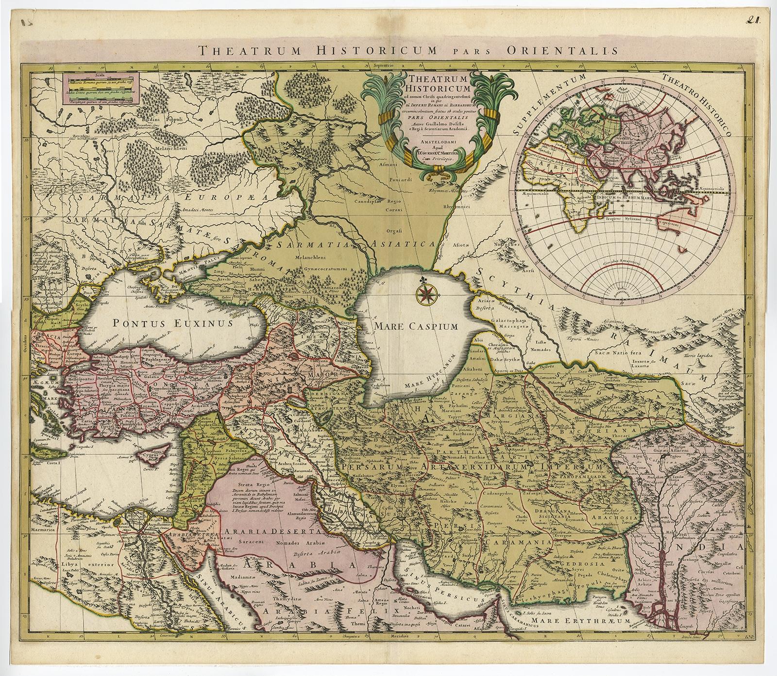 Theatrum Historicum Pars Orientalis De LIsle C - Pars map