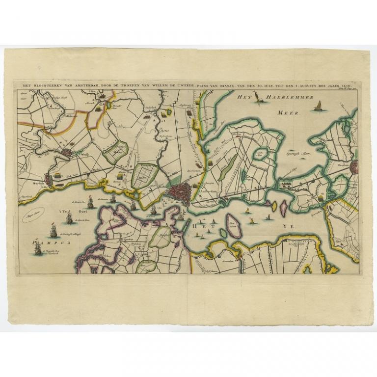Het blocqueeren van Amsterdam (..) - Le Clerc (1730)