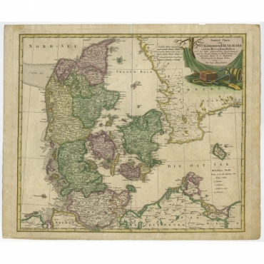 General Charte von Konigreich Daenemark (..) - Gussefeld (c.1750)