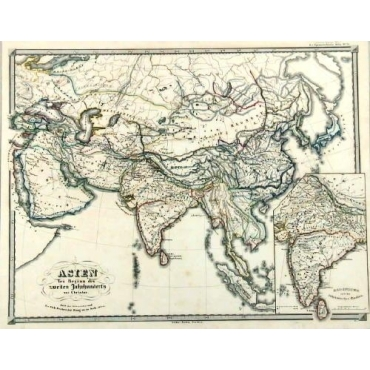 Asien gegen ende des 18th Jahrhunderts - Spruner (1855)