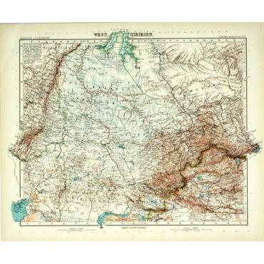Bl.57 West-Sibirien - Stieler (1905)