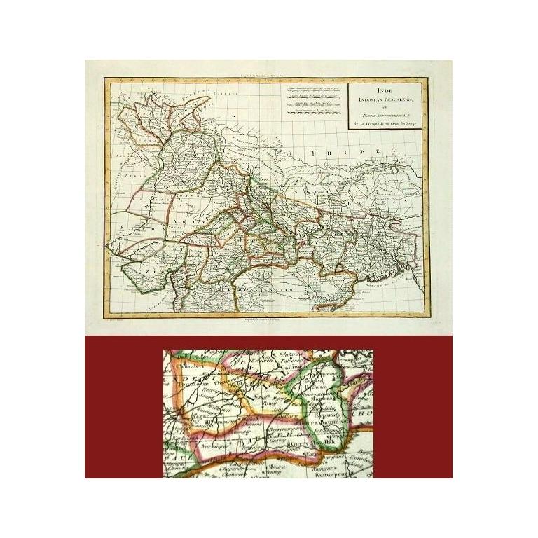 Inde Indostan Bengale et Partie Septentrionale (..) - Tardieu (1782)