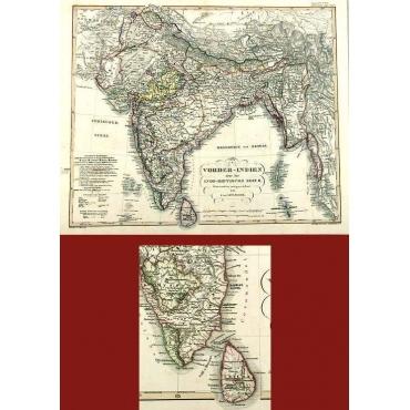Pl.44b Vorder-Indien oder das Indo-Britische Reich - Spruner (1853)