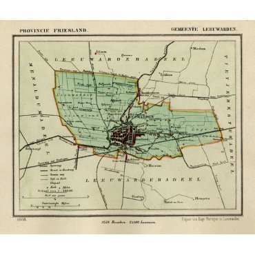 Bartele Gallery Antique Maps of Frisian Cities Friesland Maps