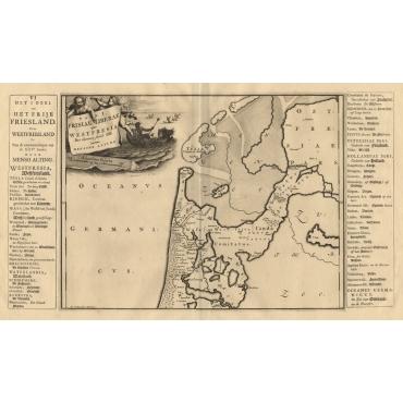 Pars I. Frisiae Liberae quae Westfresia post eluviones seculi XIII - Halma (1718)