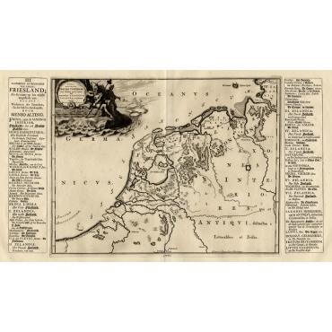 Summaria descriptio Fresiae Universae (..) - Halma (1718)