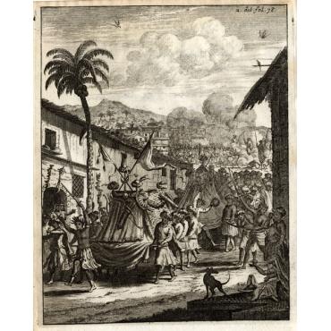 Diversche Feesten van de Moren - Als die van het Nieuwe Jaar - Schouten (1708)