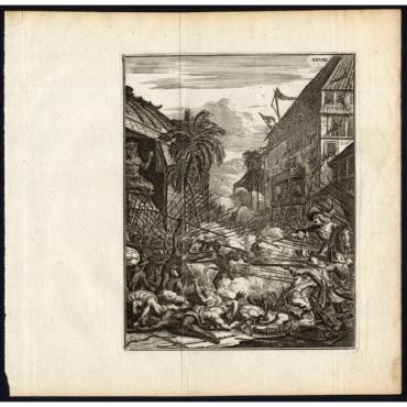 De Koninklyke Pagode, en het Paleys verovert - Schouten (1708)