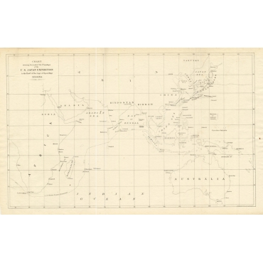 Chart showing the track of the Flagships.. - Perry (1855)