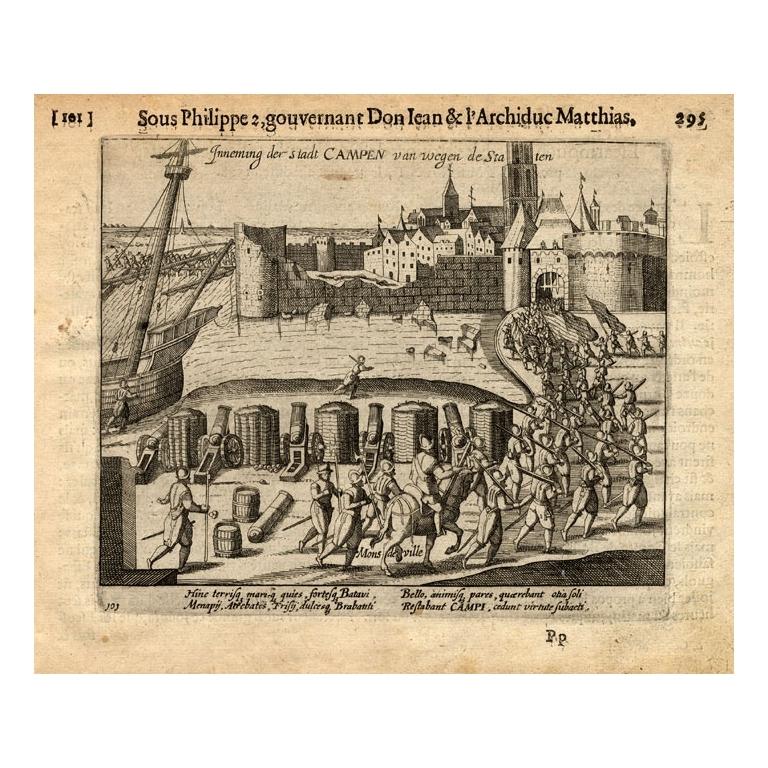 Pl. 101 Kampen taken over by state forces - Baudartius (1616)