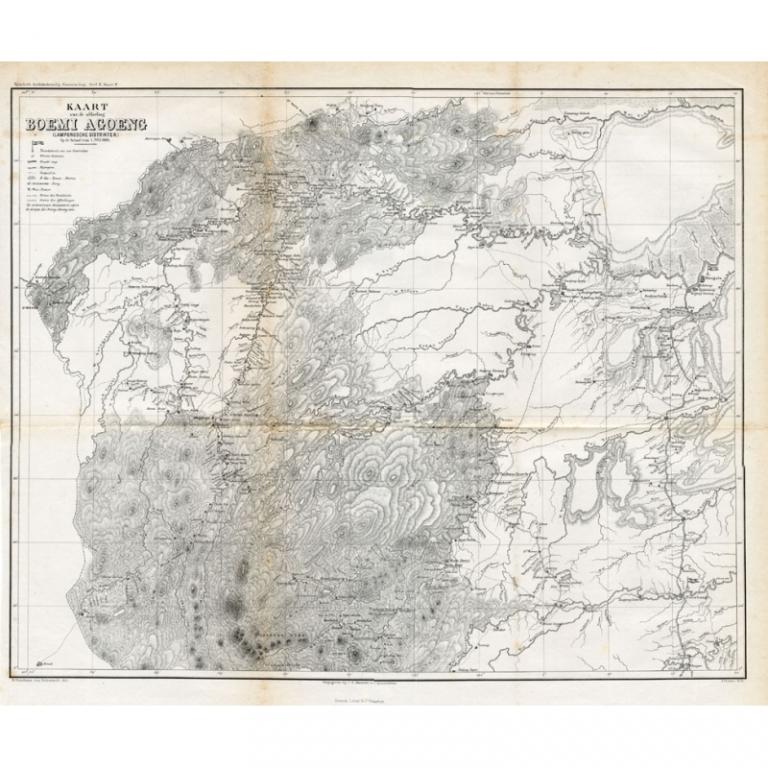 Kaart van de Afdeling Boemi Agoeng - Stemler (1875)