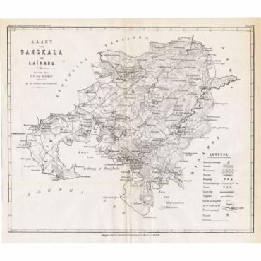 Kaart van Bangkala en Laikang - Stemler (1875)
