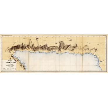 Kaart der Teloeti Baai op Ceram - Stemler (1875)