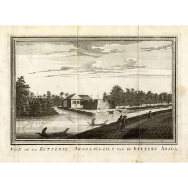 Vue de la Batterie Anjol - Schley (1750)