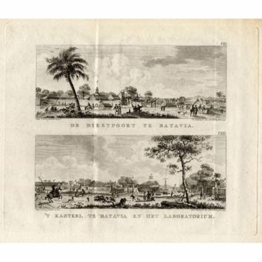 De Diestpoort te Batavia - 'T Kasteel te Batavia en het Laboratorium - Conradi (1782)