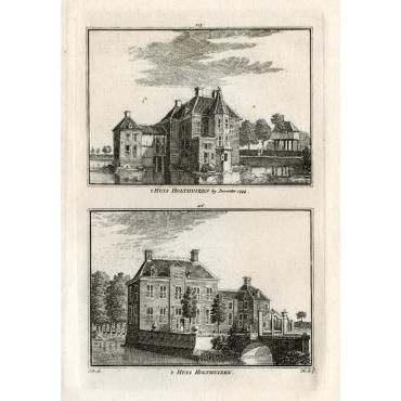 't Huis Holthuizen bij Deventer 1744 - 't Huis Holthuizen - Spilman (1743)