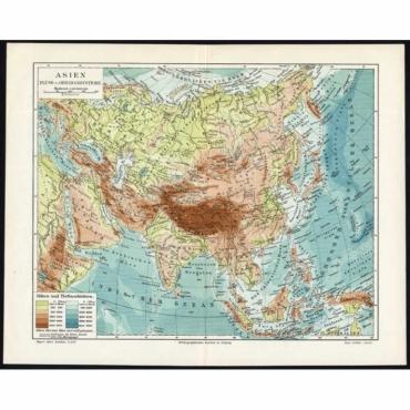 Asien. Fluss- und Gebirgssysteme - Meyer (1895)