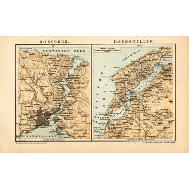Bosporus - Dardanellen - Meyer (1895)