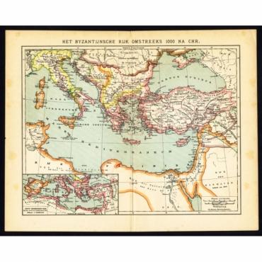Byzanthinisches Reich um das Jahr 1000 n. Chr. - Meyer (1895)