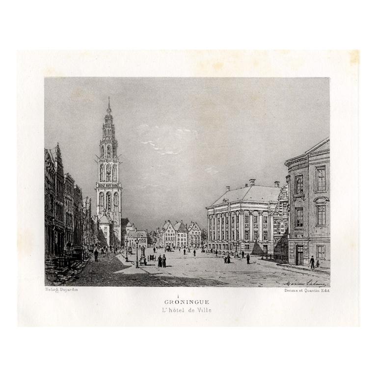 Groningue - L'hotel de Ville - Lalanne (1882)