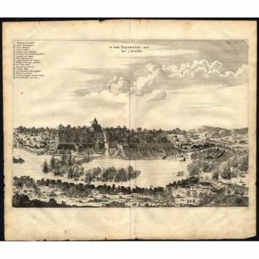 De Stadt Palembang met haer 3 Fortressen - Nieuhof (1682)