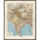 Antique Map of Central Asia and India by Andree (1904)