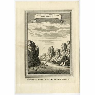 Montagnes et Detroits de Sang Wan Hab - Van Schley (1750)