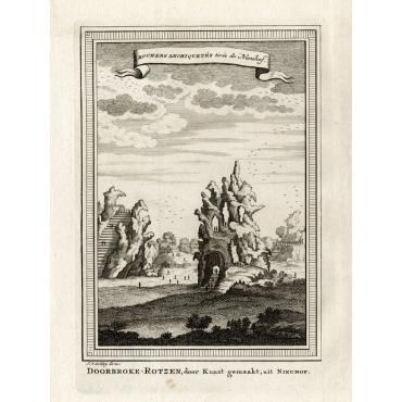 Rochers dechiquetes tires de Nieuhof - Van Schley (1750)