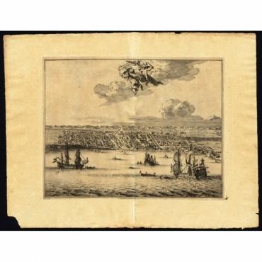 Macassar, capitale du Roiaume de meme nom - Van der Aa (1725)