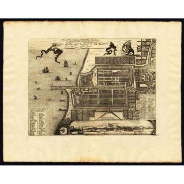 Ware afbeeldinge wegens het Casteel ende Stadt Batavia - Van der Aa (1725)