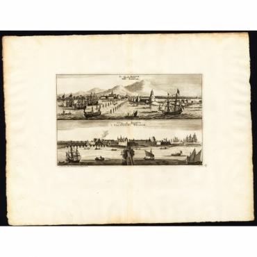 La ville de Batavie - Chateau de Batavia - Van der Aa (1725)