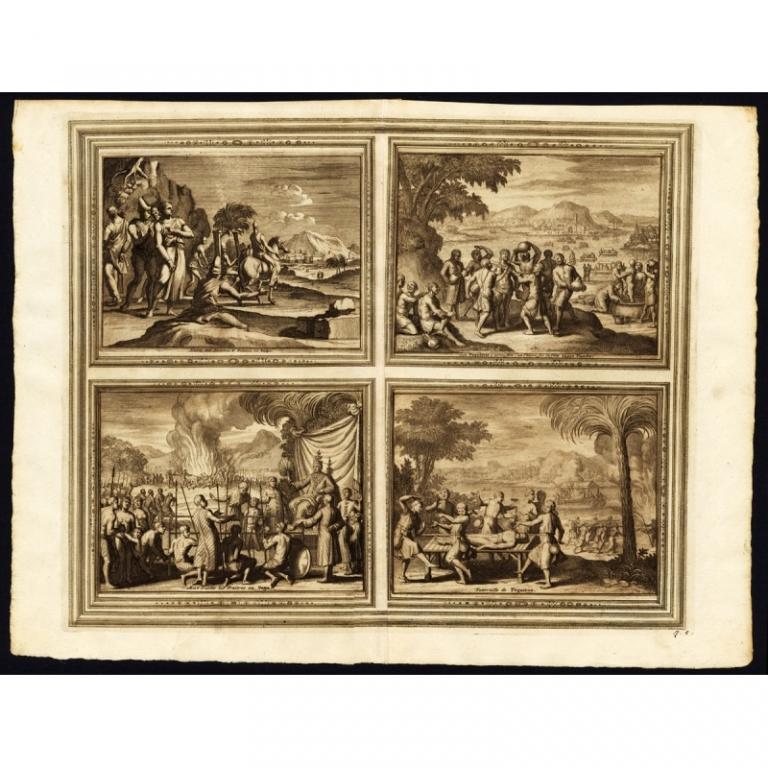 Habits des hommes et femmes en Pegu (..) - Van der Aa (1725)