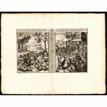 Arbres, animaux etc. des Indes - Idoles: Mathematiciens (..) - Van der Aa (1725)
