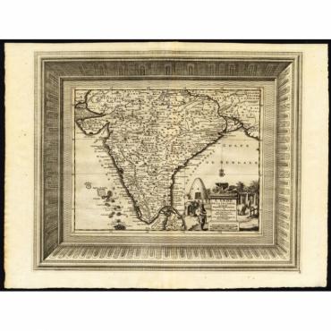 L' Inde de ca le Gange suivant les nouvelles observations (..) - Van der Aa (1725)