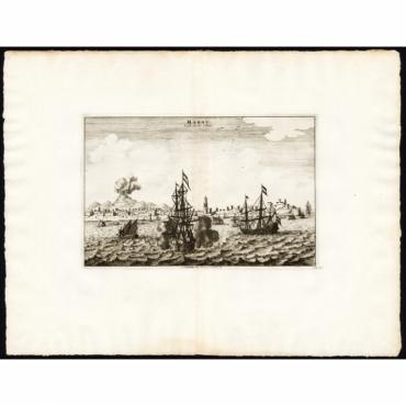 Makou, ville de la Chine - Van der Aa (1725)