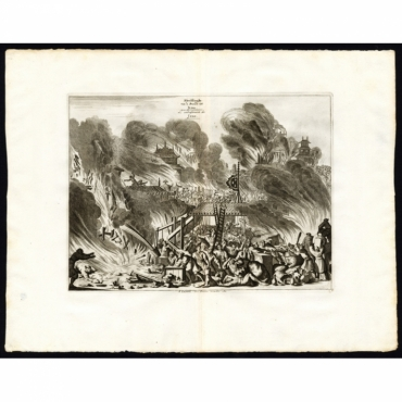 Pl.9 Afbeeldinghe van de Brandt tot Jedo - Van der Aa (1725)