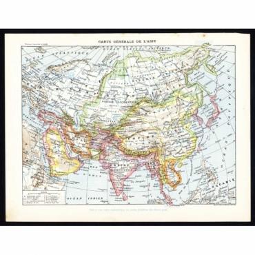 Carte Generale de l'Asie - Larousse (1897)