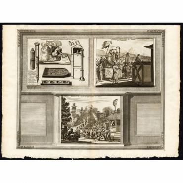 On voit ici represente tout ce qui appatient a l'ecriture des Japonais - Van der Aa (1725)