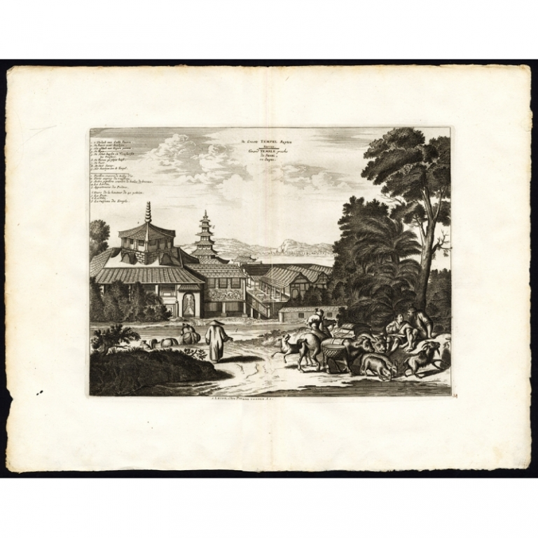 Pl.34 De Groote Temple buyten Saccay - Van der Aa (1725)