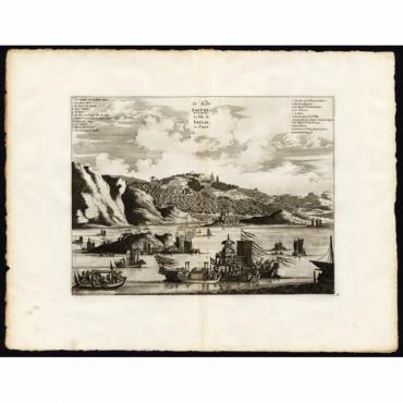 Pl.18 De Stadt Saccai - La Ville de Saccai en Japon - Van der Aa (1725)