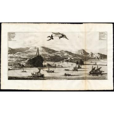 Pl.17 La Ville de Cangoxuma au Japon - Van der Aa (1725)
