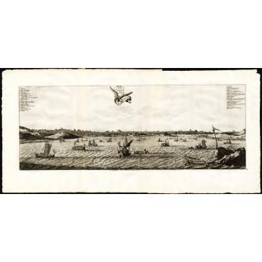 Pl.10 La Ville d'Osacco au Iapon/De Stadt Osacco - Van der Aa (1725)
