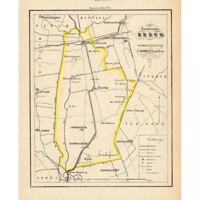 Gemeente Bedum - Fehse (1862)