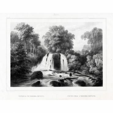 Pl.XX Java - Waterval te Tjiroek-Betong - Van de Velde (1844)