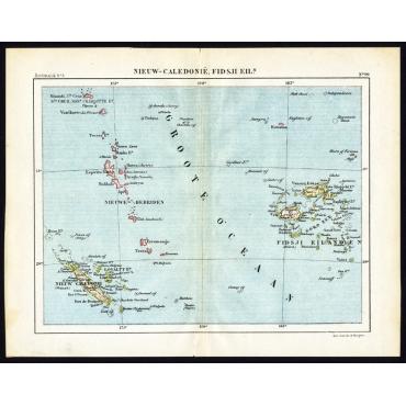 Pl.99 Nieuw Caledonie, Fidsji Eilanden - Kuyper (1880)