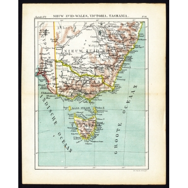 Pl.96 Nieuw Zuid-Wales, Victoria, Tasmania - Kuyper (1880)