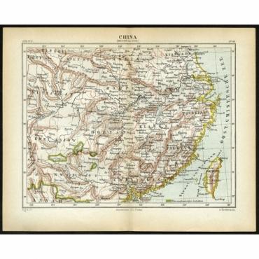 Pl.53 China, Midden en Zuid - Kuyper (1880)