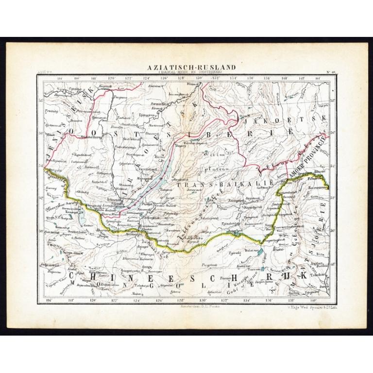 Pl.48 Aziatisch Rusland. Balkasj Meer en omstreken - Kuyper (1880)