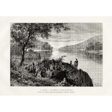 La Salouen - Vue prise en amont de Maulmein - Reclus (1883)